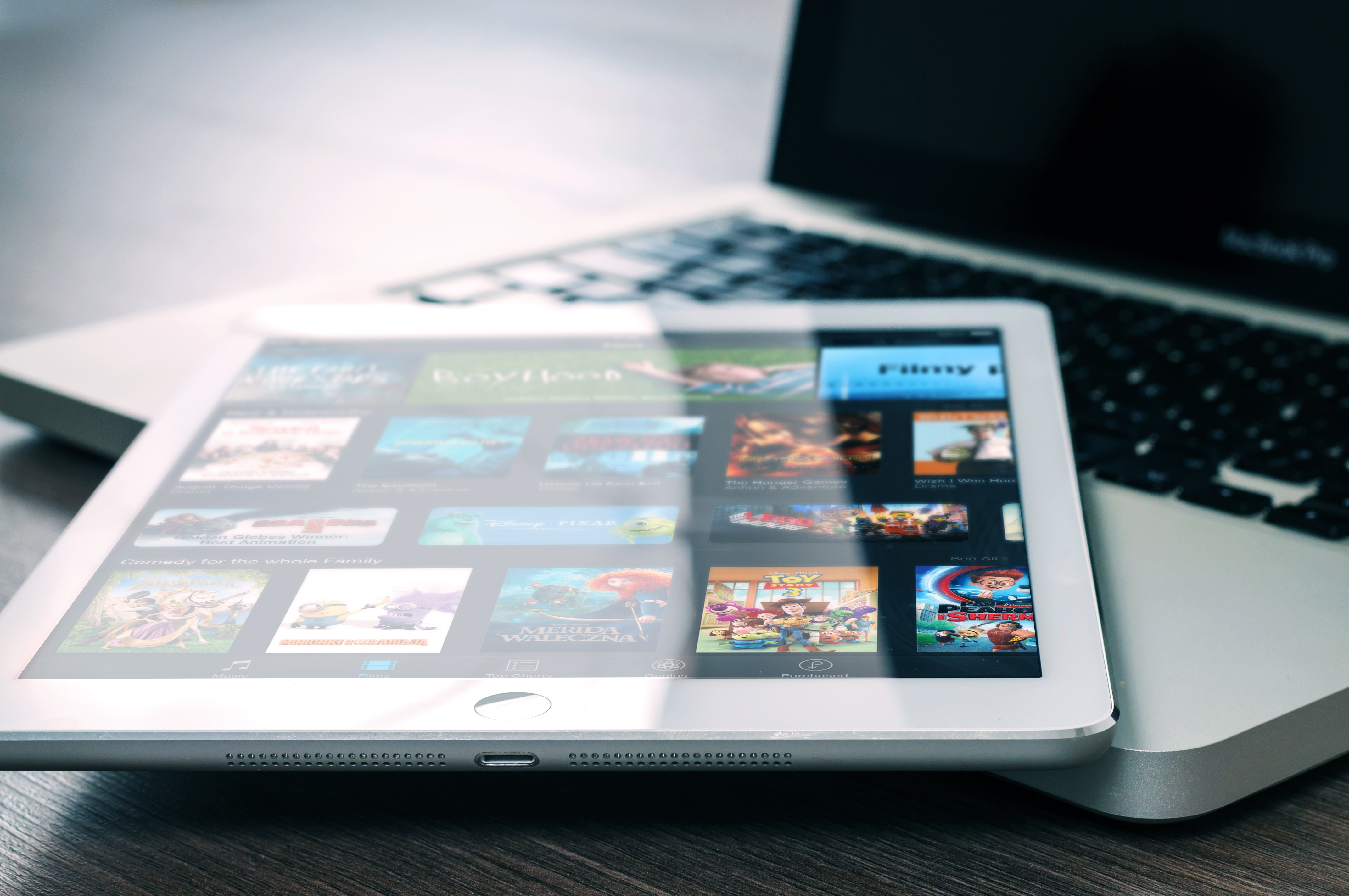 netflix streaming on a tablet